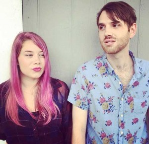 Hailey Collier and Andrew Brassell of the pop band Shirley Tempo show-off Hailey's new pink hair.